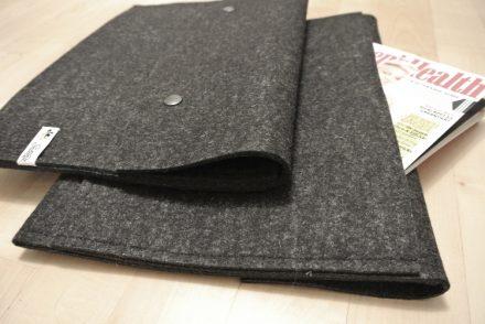 nähen • Notebookhülle aus Wollfilz