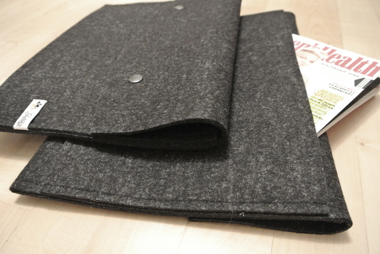 Notebookhülle aus Wollfilz