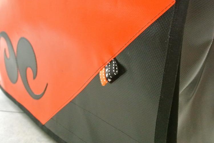 • nähen • Tasche aus Plane • orange - schwarz