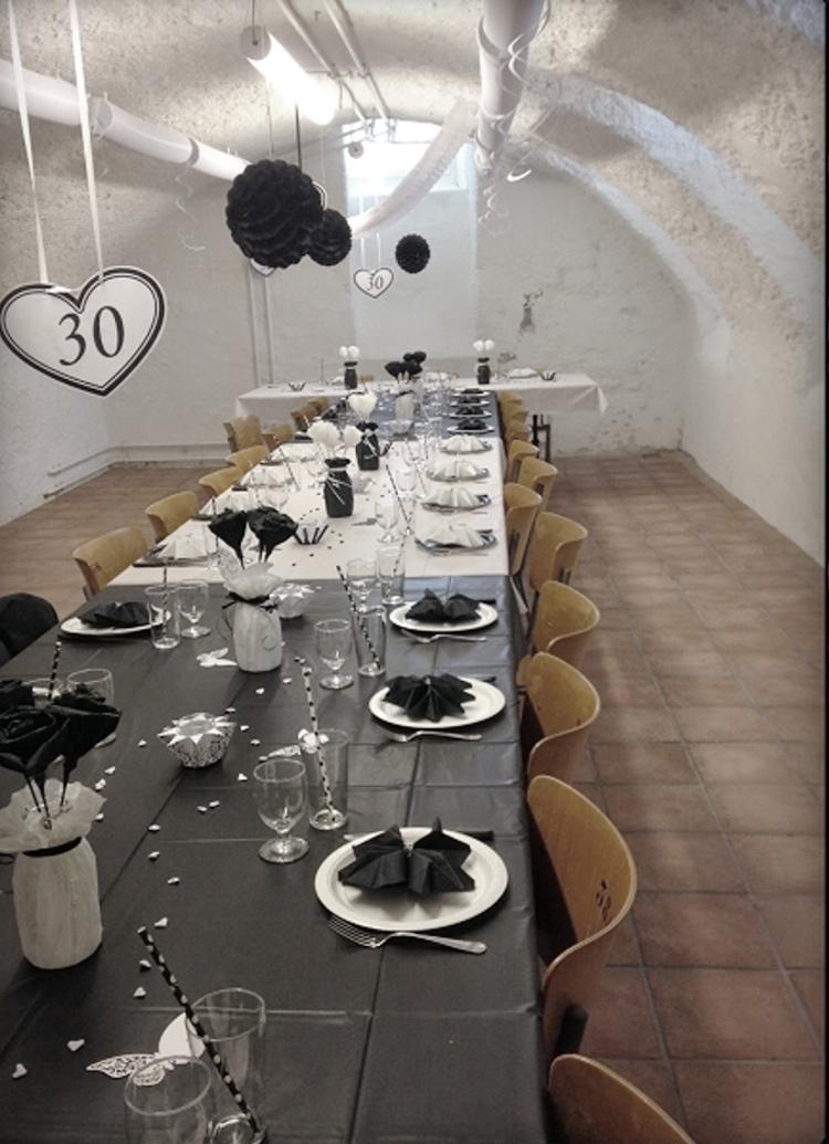 • diy • Black and white Partydeko • zum 30 Geburtstag