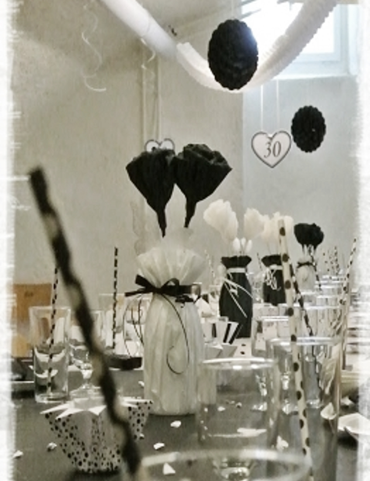• diy • Black and white Partydeko • alles passt