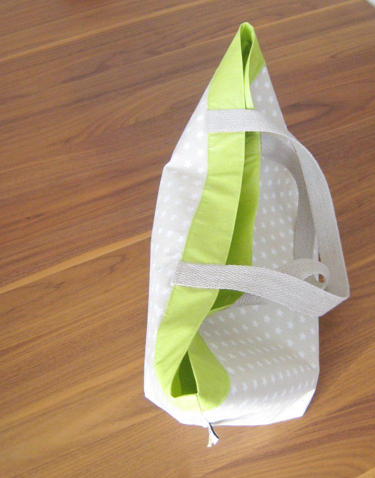 nähen • Lunchbag • im Sternendesign mit Kontrastfarbe