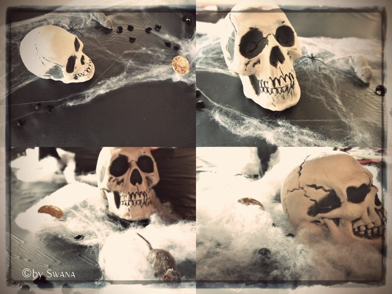 • nähen • es war eine super Piratenparty • Party Deko • Totenköpfe und Mäuse