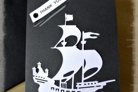 • DIY • Piratenparty - Dankeskärtchen selber machen • Piratenschiff & Thank you