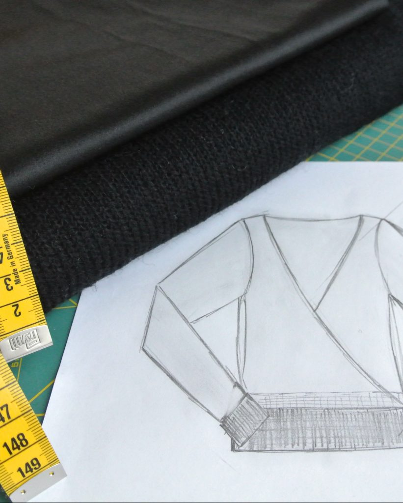 • nähen • mit dabei beim Lovely Nikolaus Sweater - Sewalong • Skizze