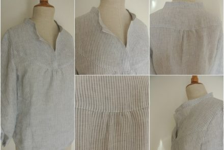12 Letter of handmade fashion - Bluse aus Baumwolle
