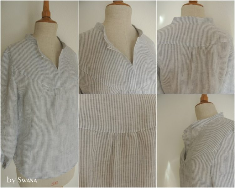 12 Letter of handmade fashion - Bluse aus Baumwolle