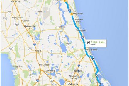 • on tour • Von Cape Canaveral nach Jacksonville • unsere Route