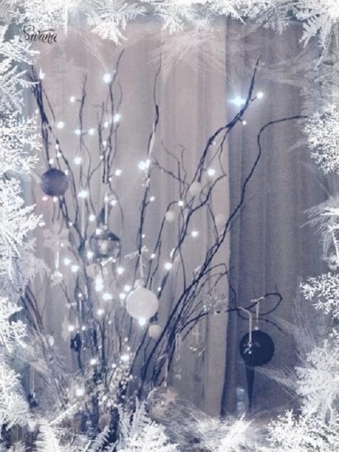 • mein Blog & ich & so • Weihnachtslichter und Eiskristalle • Weihnachtszweige