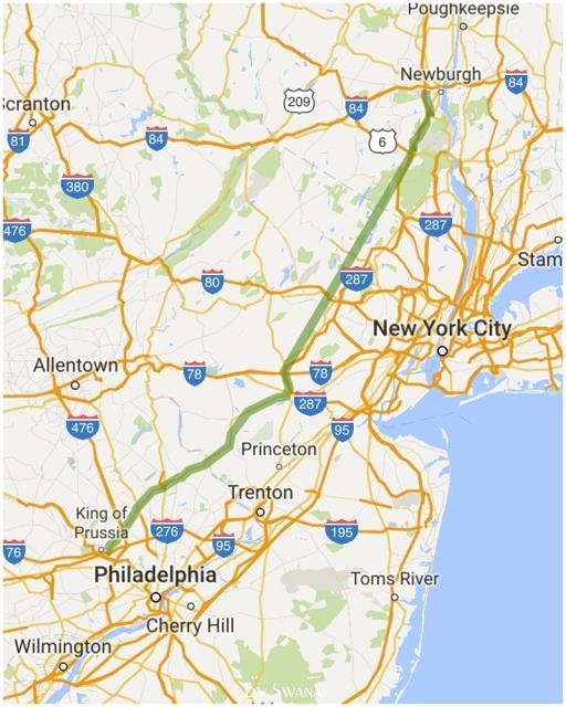• on tour • der letzte Stopp vor New York • Newburgh • unsere Route