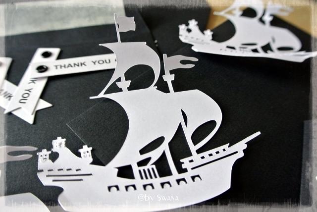 • DIY • Piratenparty - Dankeskärtchen selber machen • Piratenschiff