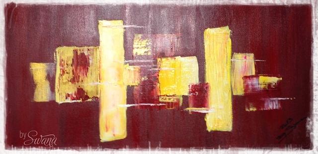 DIY • Acrylbilder • rote Phase