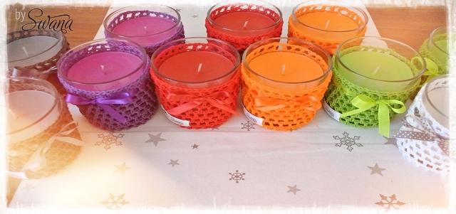 nähen • Weinachtsgeschenke • Kerzengläser mit Duftkerzen