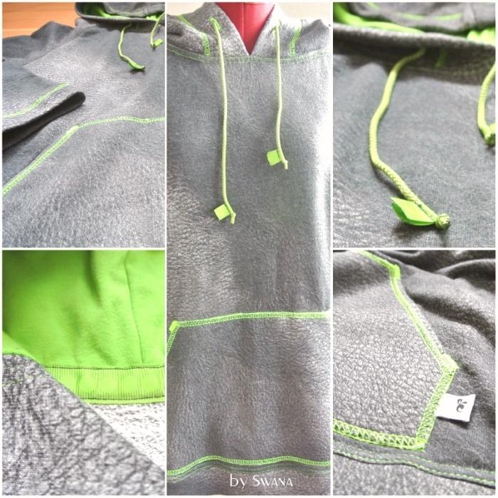 • nähen • Sweater für richtige Männer • mit Coverlock Naht