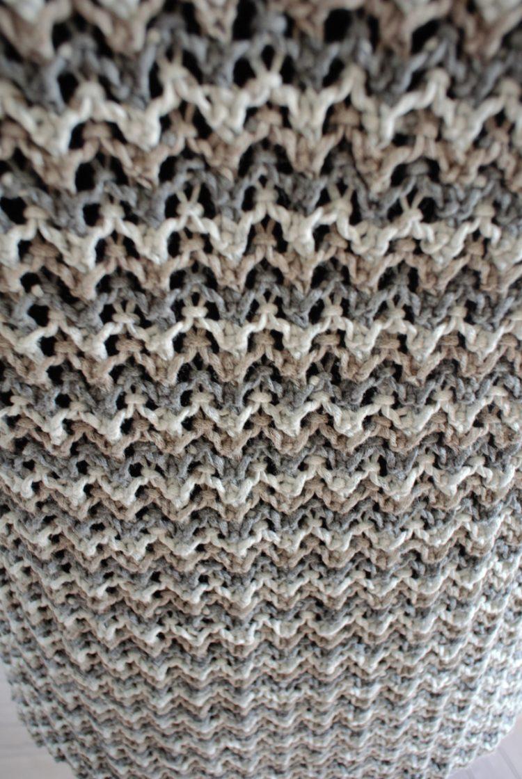 • stricken • kurzarm Pullover im Rippenajourmuster • Musterblick