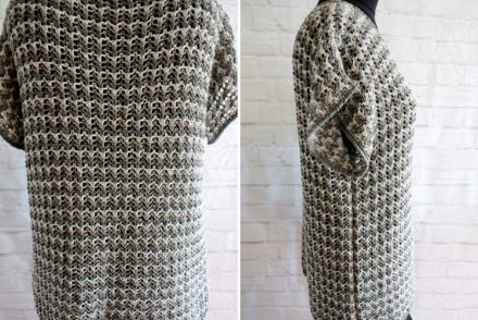 • stricken • kurzarm Pullover im Rippenajourmuster • von allen Seiten