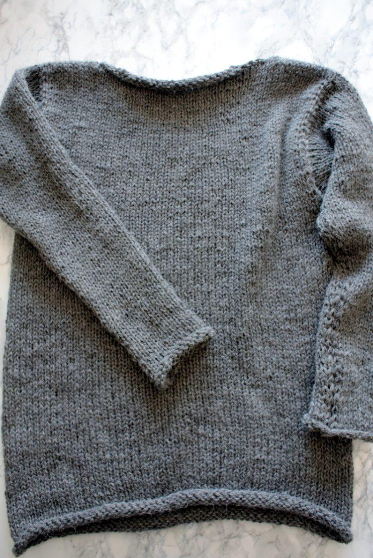 • Wolle & Garn • einfacher Langarmpullover aus Alpakawolle stricken • ein wunderbares Stück