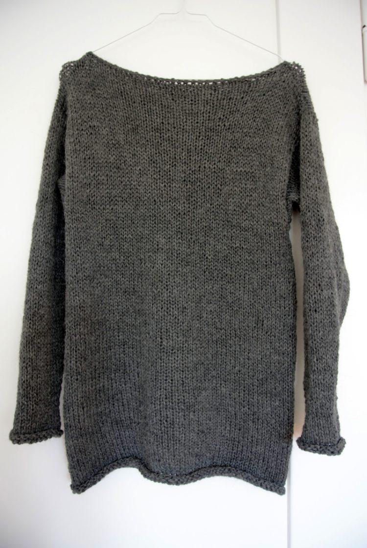 • Wolle & Garn • einfacher Langarmpullover aus Alpakawolle stricken