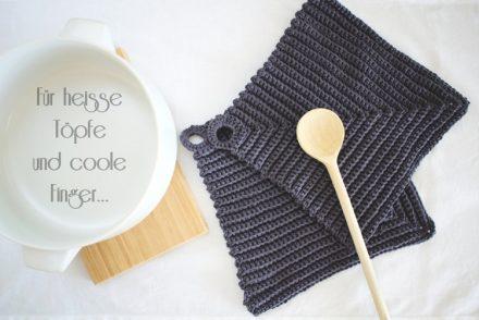 • Wolle & Garn • Topflappen häkeln schnell gemacht • aus Baumwollgarn