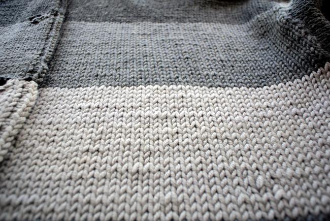 • stricken • Kuschel-Strickjacke im Streifendesign aus Merinowolle • im Streifenlook