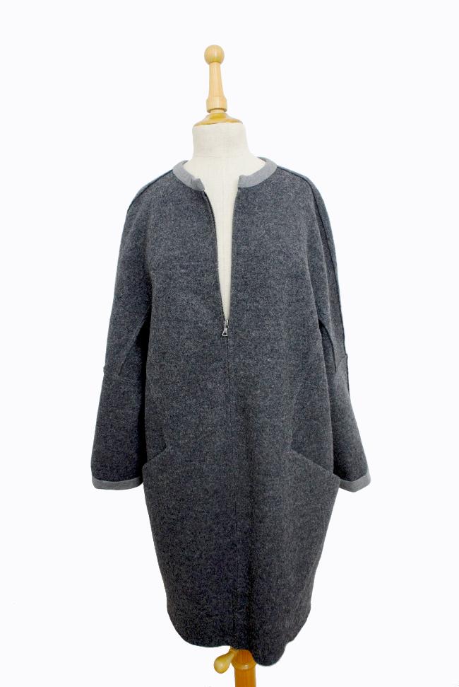 • nähen • Loden- oder Walkwollmantel mit einem druchgehenden Reissverschluss