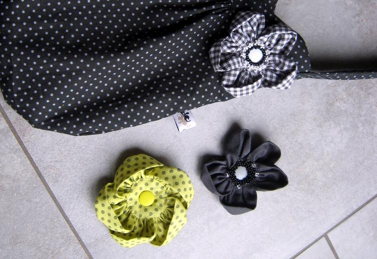 • nähen • Blume mit Snap für die Tasche