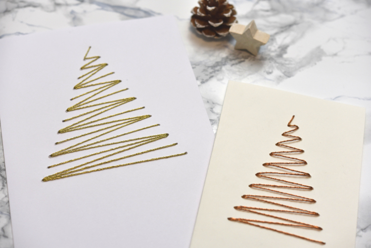 • diy • Weihnachtskarten sticken ist gar nicht schwer • fertig und nun Freude verschenken