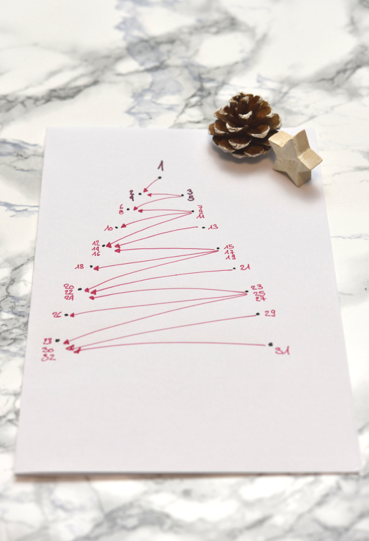 Weihnachtskarte sticken