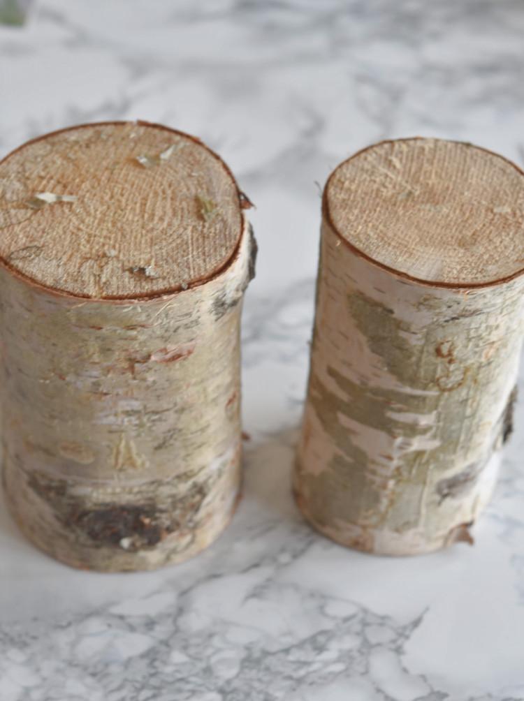 • diy • Halter aus Holzscheiben für deine Lieblingsfotos • Holzstamm