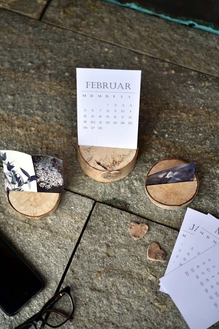 • diy • Halter aus Holzscheiben für deine Lieblingsfotos • für kleine oder grössere Fotos