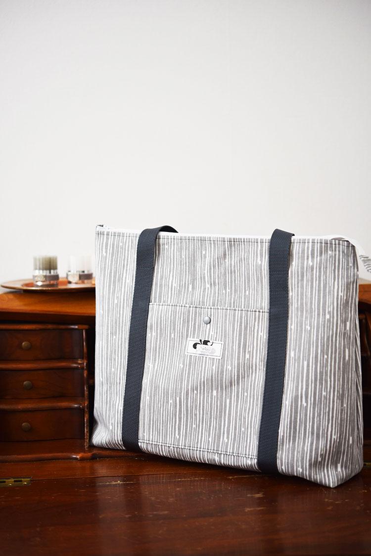 • nähen • Taschenspieler 4 • ein Raumwunder - die Ruckzuck Tasche • Stoff wie Baumrinde