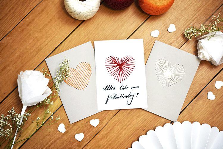 diy sticken karten zum valentinstag selber machen. Black Bedroom Furniture Sets. Home Design Ideas