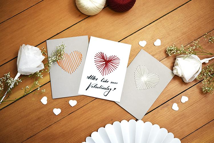DIY • Mit Liebe verschenken • gestickte Valentinstag Karten • zum selber machen