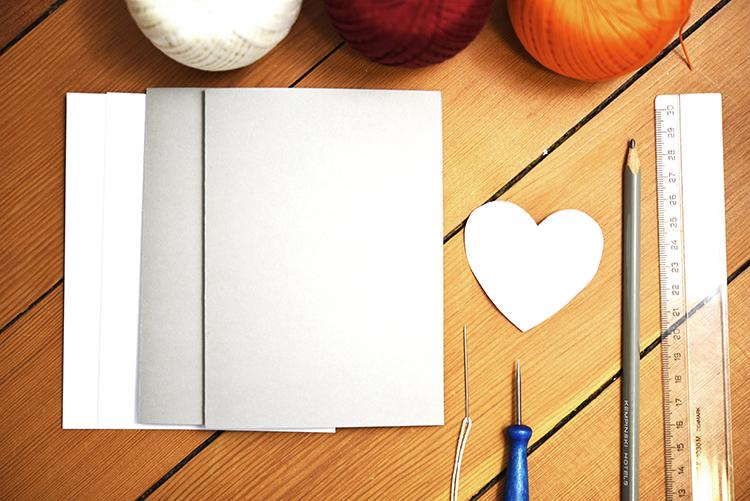 DIY • Material für gestickte Valentinstag Karten • Material
