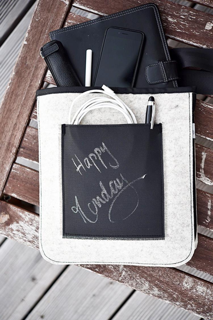 • nähen • TS 4 sew along • Männertasche mit Tafelstoff • Happy Monday