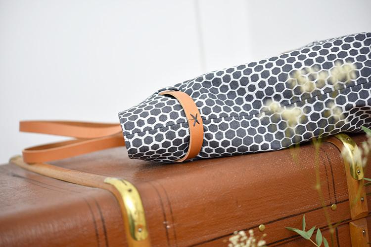 • nähen • Carry Bag • TS 4 sew along • Leder mit Cordonnet zusammengenäht