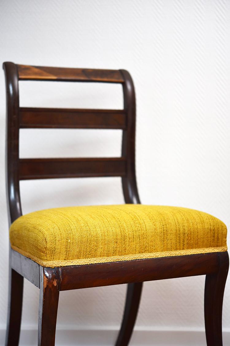 • diy • 5blogs1000Ideen • alter Stuhl neuer Überzug• der alte Stuhl