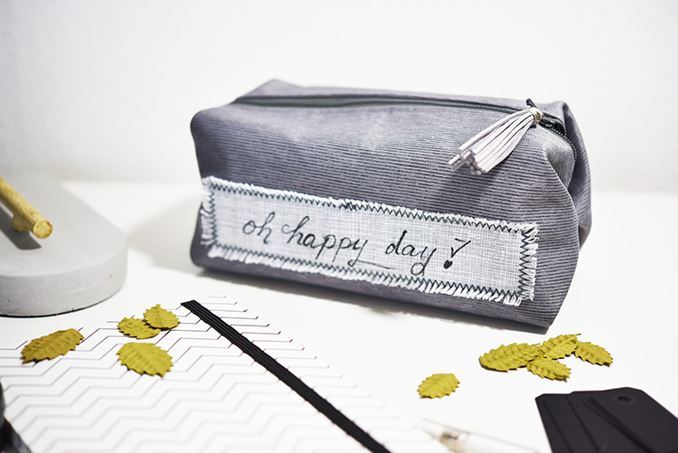 • nähen • Taschenspieler 4 Sew Along • die kleine feine PopUp-Tasche • Lederquaste