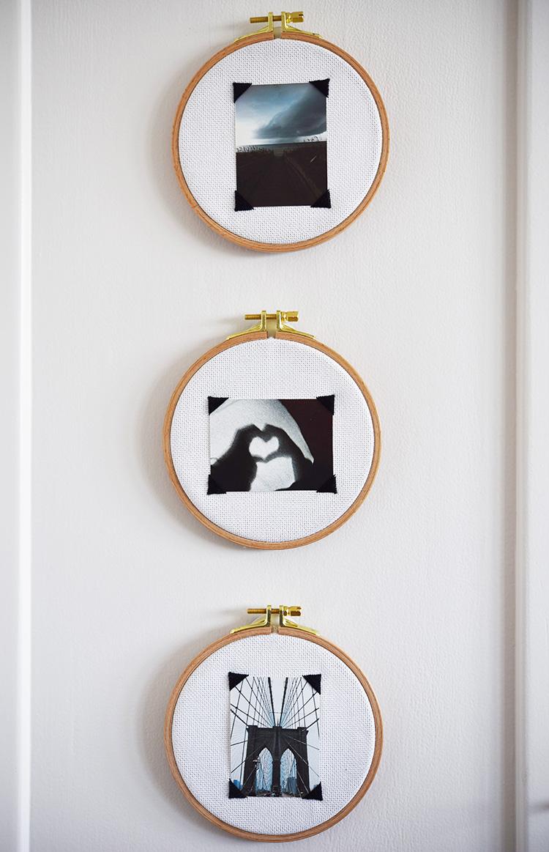 • diy • Mini-Fotos im Stickrahmen • im Hoch- oder im Querformat