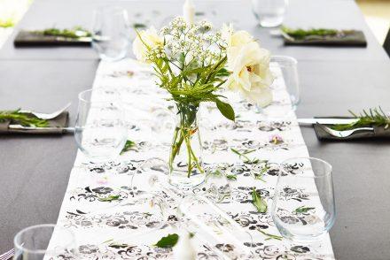 • diy • Tischläufer fürs Sommerfest • upcycling • auf zum Sommerfest